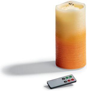 LED Zimmerbrunnenkerze orange