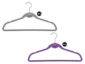 LIVARNO LIVING® 10 Samt-Kleiderbügel