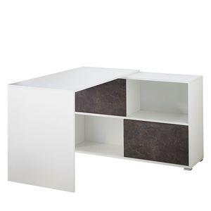 Schreibtisch Altino II - Weiß / Basalt, Germania