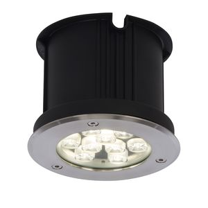 EEK A+, LED-Außeneinbauleuchte Derby Rotary - Kunststoff / Edelstahl - 1-flammig - 15, Brilliant