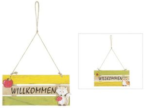 Dekohänger - WILLKOMMEN - aus Holz - 24 x 10,5 cm - verschiedene Designs