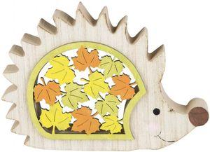 Igel - aus Holz -  16 x 11 x 2 cm