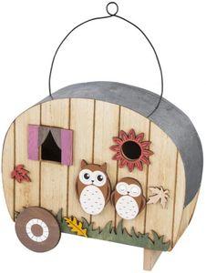 Deko-Vogelhaus - aus Holz - 22,5 x 9,5 x 20 cm