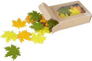 Streudeko - Blätter - aus Filz - Ø = 4 cm - 24 Stück