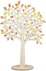 Standdeko - Baum - aus Holz - 37,5 x 9,5 x 58,5 cm