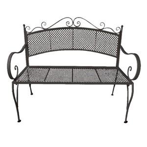 Metall-Gartenbank »elegance« schwarz