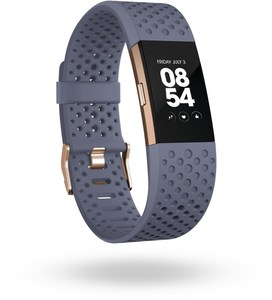 Fitbit Charge 2 (S) Special Edition Sport Activity Tracker blaugrau/roségold