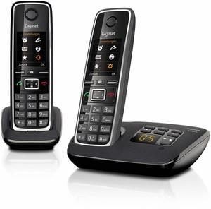 Gigaset C 530 A Duo Schnurlostelefon mit Anrufbeantworter schwarz