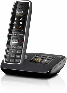 Gigaset C 530 A Schnurlostelefon mit Anrufbeantworter schwarz