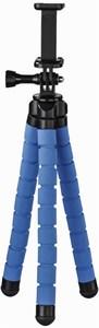 Hama Flex (26cm) Stativ für Smartphone und GoPro blau