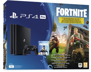 Sony PS4 Pro Konsole (1TB) Konsolen Bundle Fortnite Royal Bomber schwarz