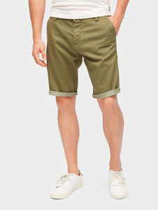 Tom Tailor Hosen & Chino Josh Regular Slim Bermuda Shorts, deep fresh olive, 32