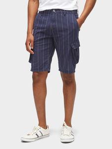 Tom Tailor Denim Hosen & Chino Cargo Slim Bermuda Shorts, indigo optic stripe, S