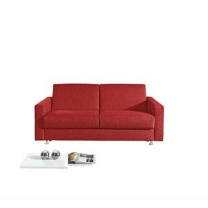 Schlafsofa Stoffbezug Rot ca. 140 x 200 cm