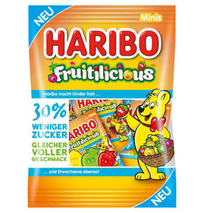 HARIBO             Haribo-Fuitilious Minis 200g, 30% weniger Zucker                  (2 Stück)