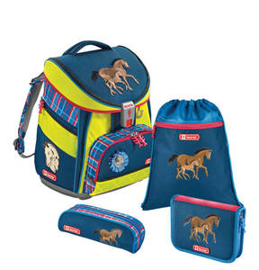 "Step by Step             Schulranzen-Set Comfort DIN ""Horse Family"", 4-teilig, gepolstert, ergonomisch"