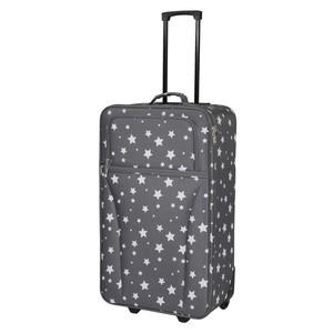 Textil-Koffer Sterne grau 28 Liter