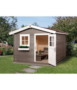 Weka Gartenhaus Premium 28FT + Vordach 20 cm