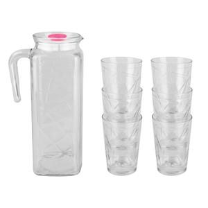Wassergläser mit Karaffe, 7er-Set