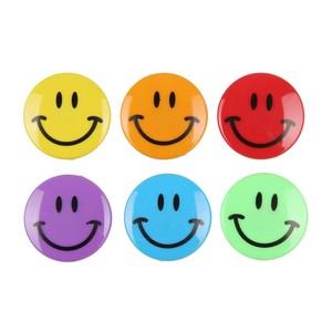 Smiley-Magnete, 6er-Set