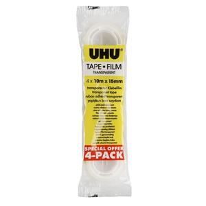 UHU Klebefilmrollen, 4er-Pack