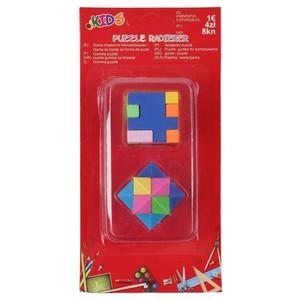 3D-Puzzle-Radiergummis, 2er-Set