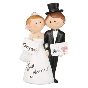 Deko-Figur Hochzeitspaar 10 cm