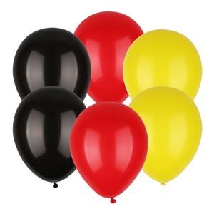 6 Luftballons Schwarz-Rot-Gold