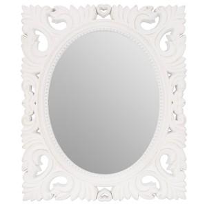 Spiegel mit Holzrand weiß