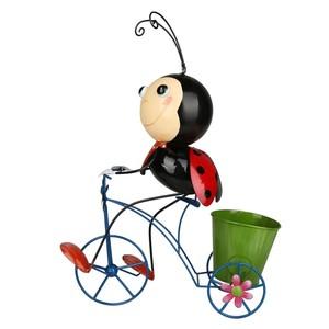 Deko-Figur Marienkäfer auf Fahrrad