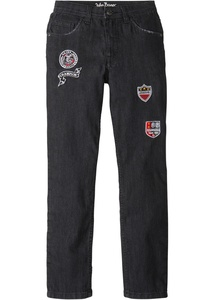 Slim Fit Jeans mit coolen Badges