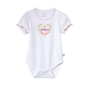 Liegelind Baby-Mädchen-Body mit Puffärmeln
