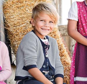 Kids Jungen-Strickjacke mit Knöpfen in Hirschhorn-Optik