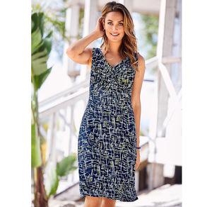 Laura Torelli Classic Damen-Kleid mit Knoten
