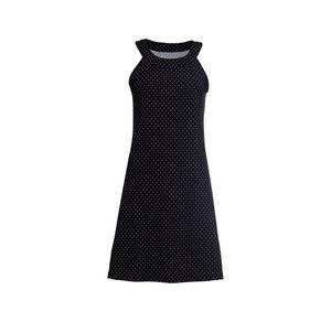 Laura Torelli COLLECTION Damen-Kleid mit Punkte-Muster