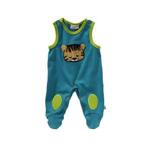 Liegelind Baby-Jungen-Strampler mit Tiger-Frontaufdruck