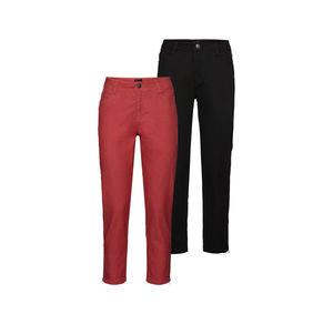 Laura Torelli Classic Damen-Jeans mit schicken Reißverschlüssen
