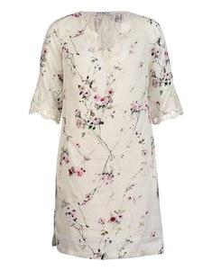 PUNT ROMA - Leinenkleid mit Blumendruck