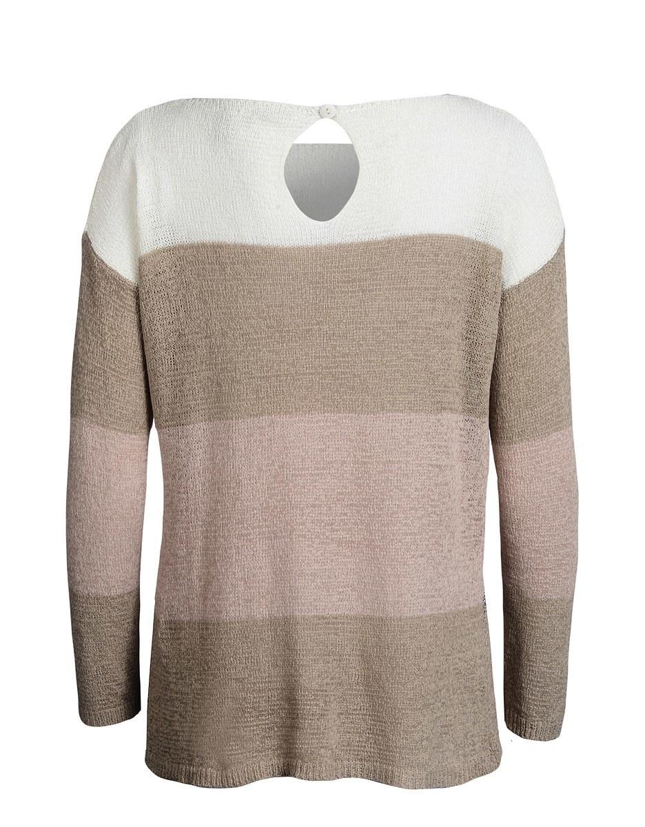 Bild 2 von PUNT ROMA - Bändchengarn-Pullover im Color-Block-Look