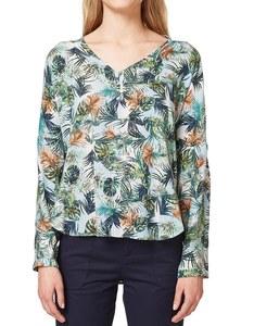 Esprit - sommerlich-bunt bedruckt Bluse mit Krempelärmeln