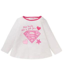 Supergirl - Sweatshirt - Symbol, Schriftzug