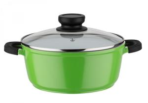 "Casa Royale Kochtopf mit Glasdeckel ""Bodo"" grün, ø 20 cm"