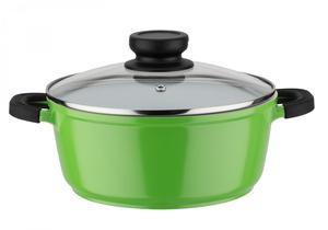 "Casa Royale Kochtopf mit Glasdeckel ""Bodo"" grün, ø 24 cm"