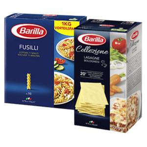 Barilla italienische Pasta aus 100% Hartweizen oder La Collezione versch. Sorten, jede 500/1000-g-Packung