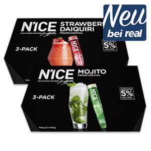 N1CE Frozen Cocktail versch. Sorten, 5 % Vol. jede 3 x 110 = 330-ml-Packung
