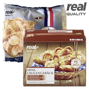 Croissant oder Mini-Laugengebäck mit Brezelsalz, gefroren, jede 360/768-g-Packung, ab 3 Packungen
