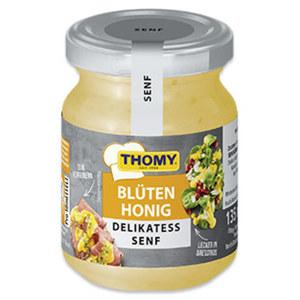 Thomy Delikatess Senf Alpenkräuter, Honig oder Feige jedes 135-ml-Glas