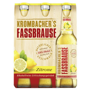 Krombacher Fassbrause Zitrone, Holunder oder Apfel jede 6 x 0,33-Liter-Packung