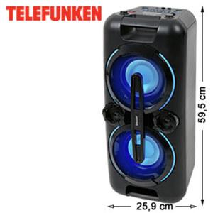 Bluetooth®-Party- Lautsprecher BS1017 mit UKW-Radio • Bass-Boost • USB-/3, 5-mm-Klinken- Anschluss • 2 Mikrofon-Anschlüsse • integr. Akku
