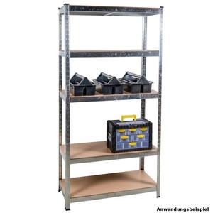 Schwerlastregal steckbar aus Stahl für 875 kg mit MDF Böden